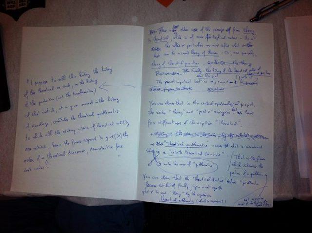 Badiou notes