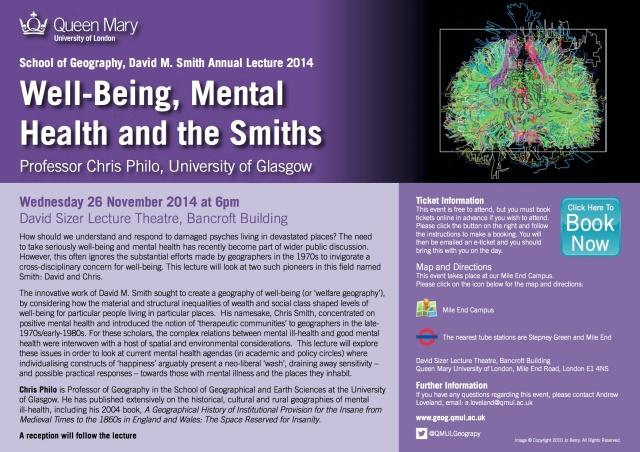 David M  Smith Lecture Geog