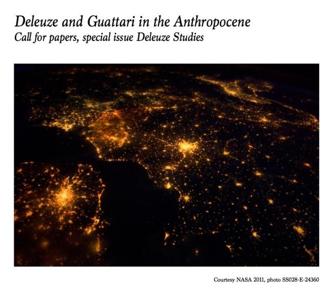cfp Deleuze & Guattari in the Anthropocene