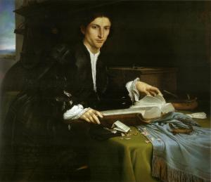 Portrait of a Gentleman in His Study — Lorenzo Lotto