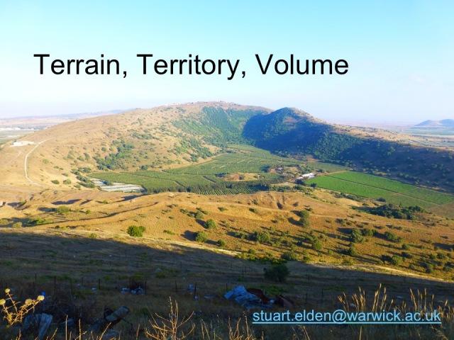 Terrain, Territory, Volume