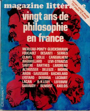 Magazine littéraire - vingt ans de philosophie en France