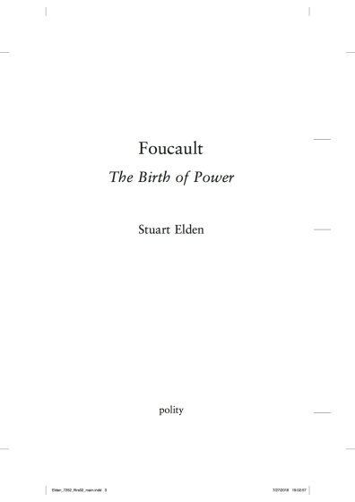 Foucault The Birth of Power (proof)